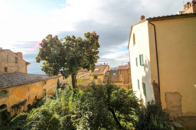 View from apartment in Cortona