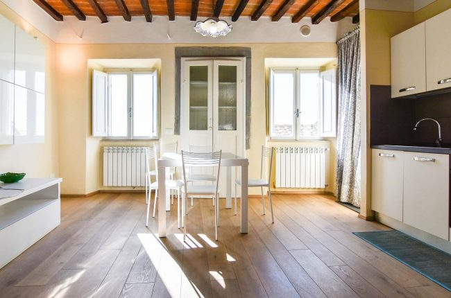 Two-room apartment with view in the historical center of Cortona