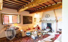 Living room - Stone farmhouse with a panoramic view